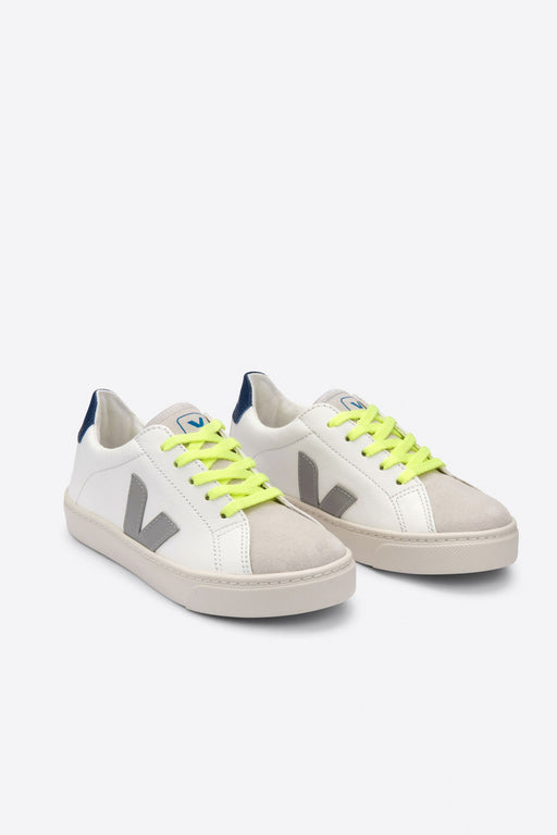 JUNIOR SMALL ESPLAR LACE extra white oxford grey jaune fluo lace