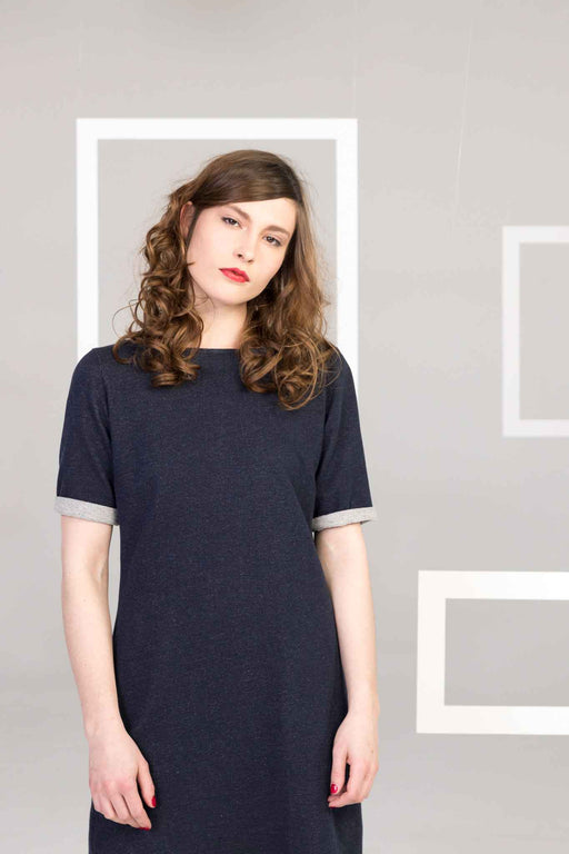 SIRKE Dress navy mel