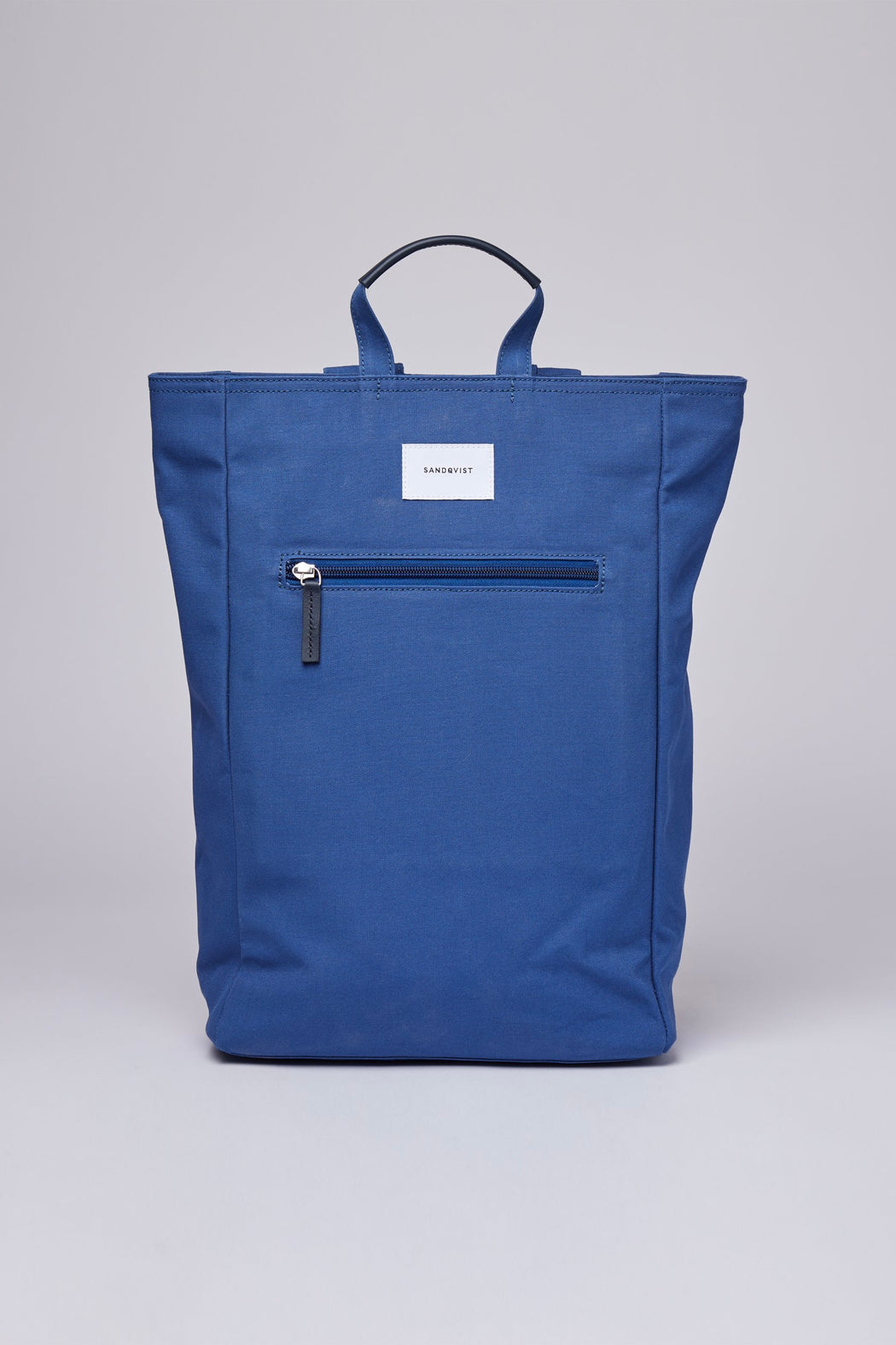 TONY Backpack/Tote bag blue with blue leather