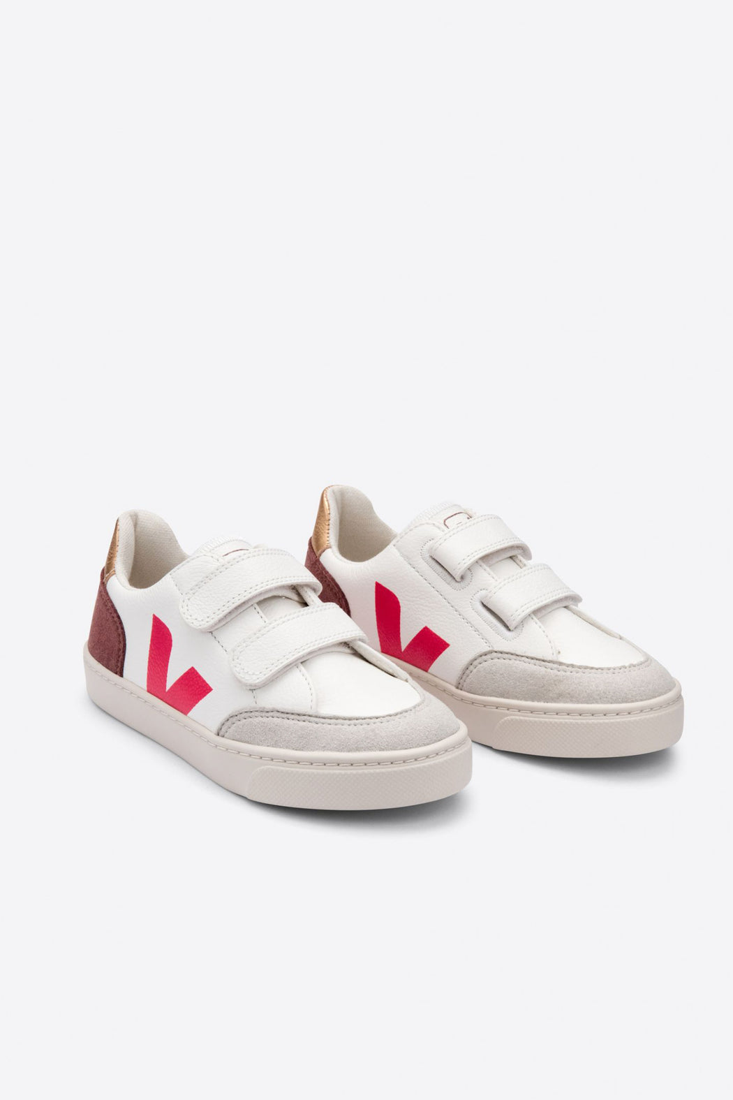 JUNIOR SMALL V-12 VELCRO Leather extra white multico dried petal