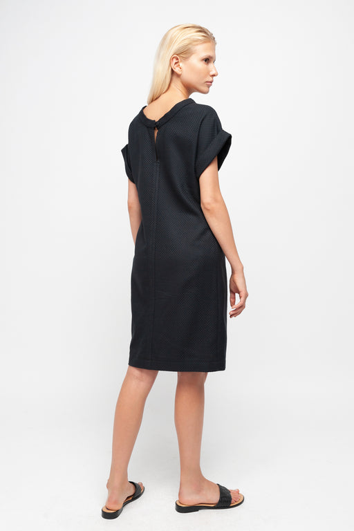 CAMILLE Pencil Cut Dress black structure