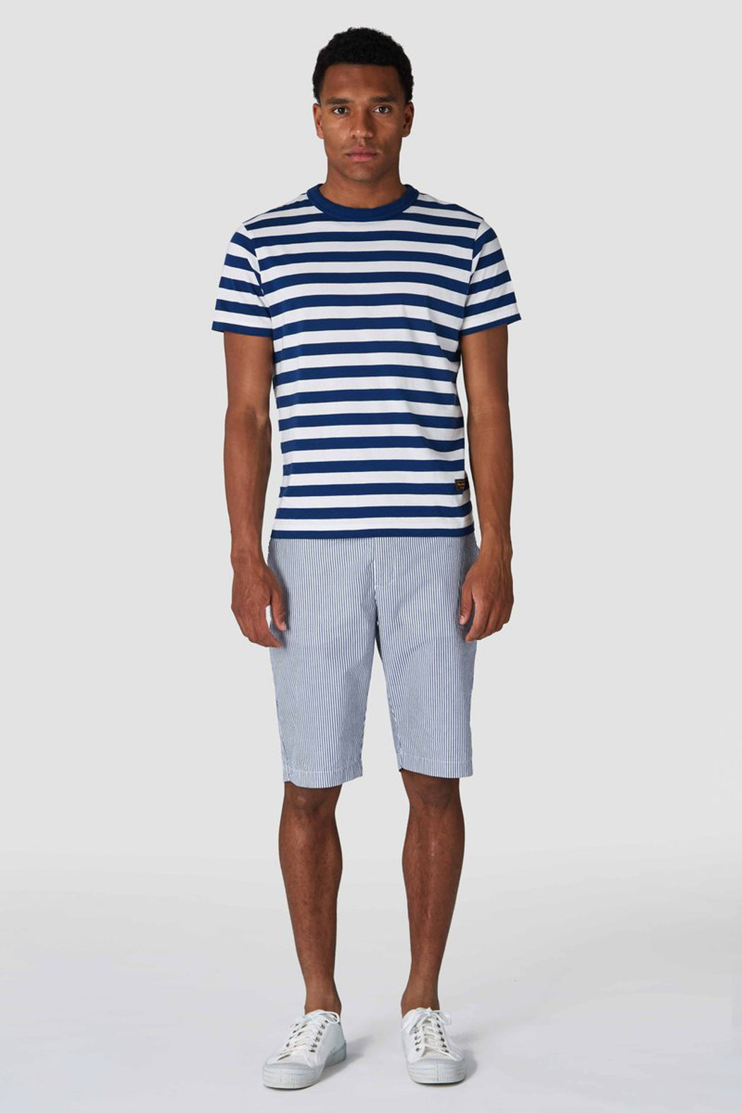 CRONUS Shorts navy fine stripe