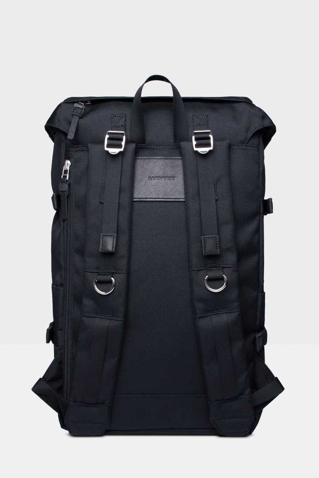 HARALD Backpack black with black leather