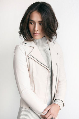 CHAYA Eco Leather Jacket nude