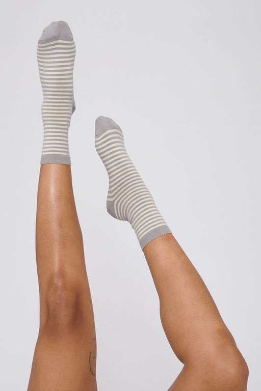 COLOR STRIPED Socks grey