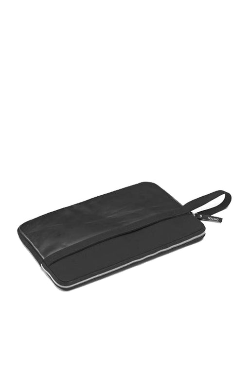 LAPTOP SLEEVE black leather canvas 13""
