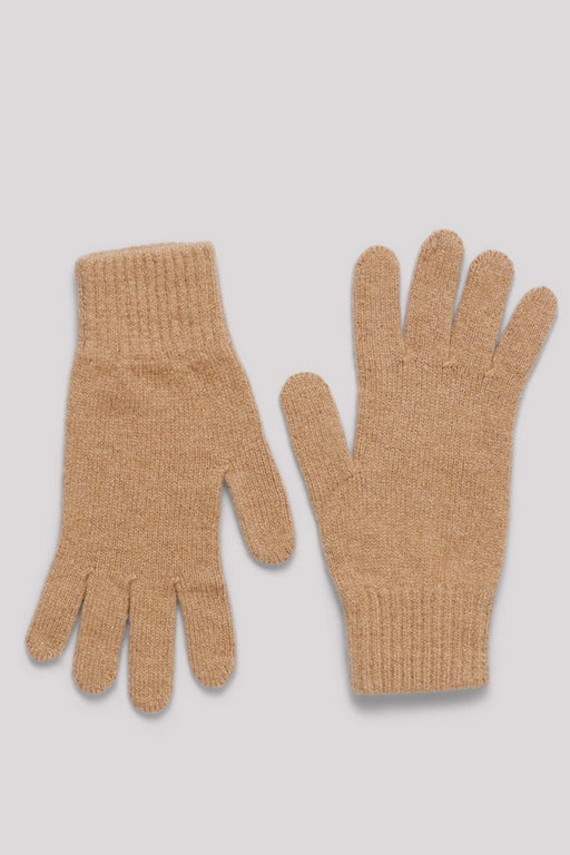 RECYCLED CASHMERE Gloves camel