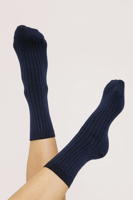 ORGANIC COTTON Rib Socks navy