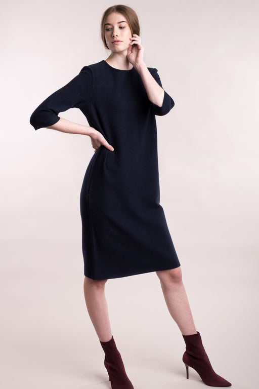 SOFT CORDUROY Cocktail Dress dark blue