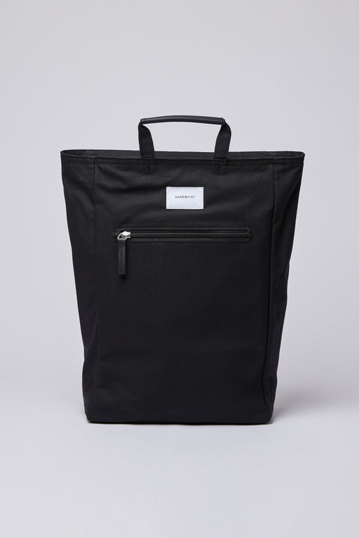 TONY Backpack black with black leather