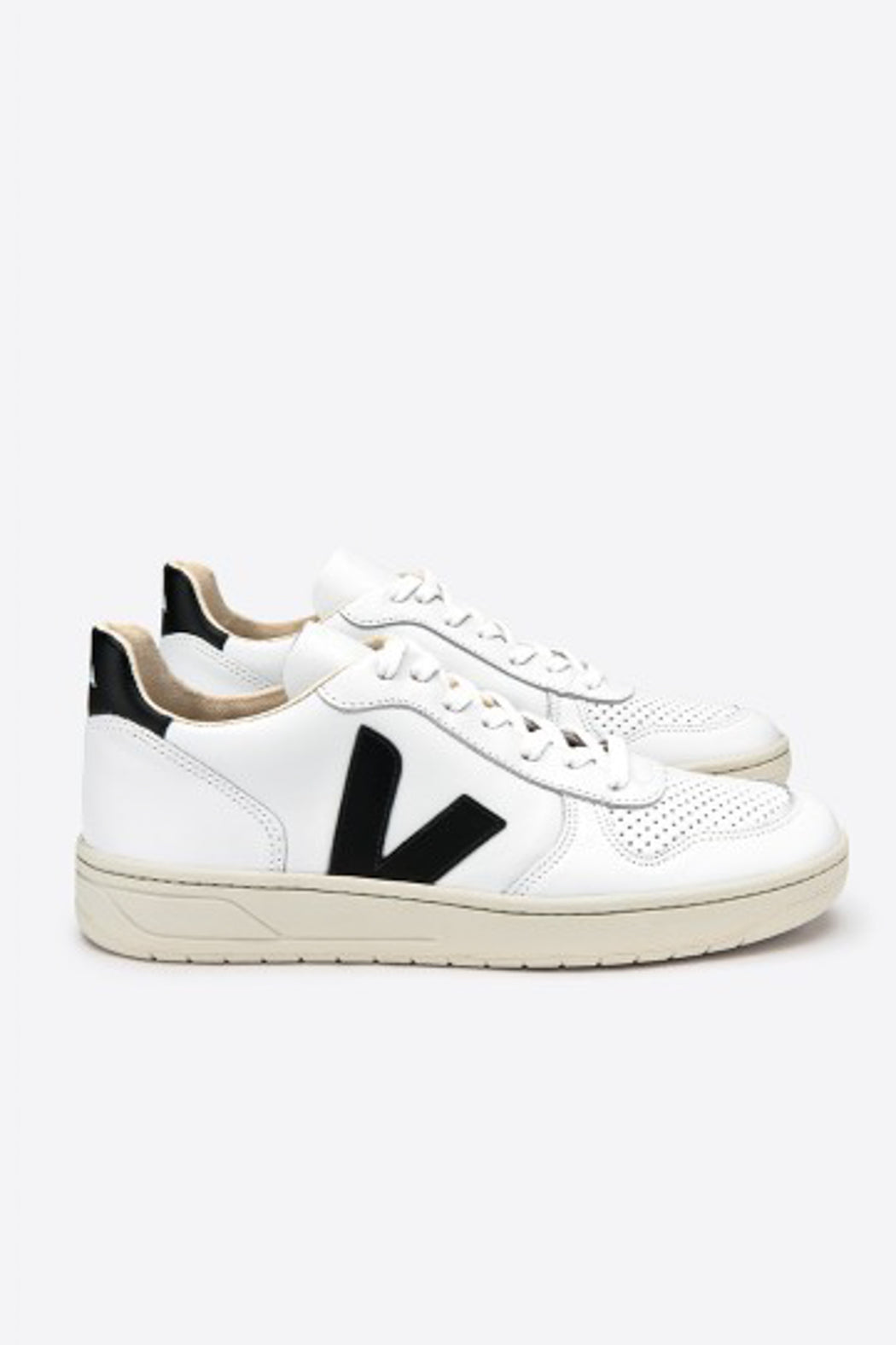 V-10 Leather extra-white black