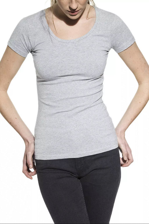 CREW-NECK T-Shirt grey mel.