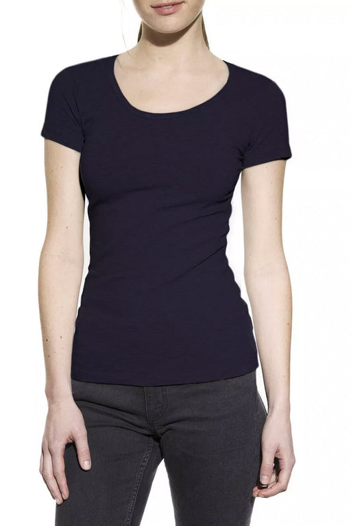 CREW-NECK T-Shirt dark navy