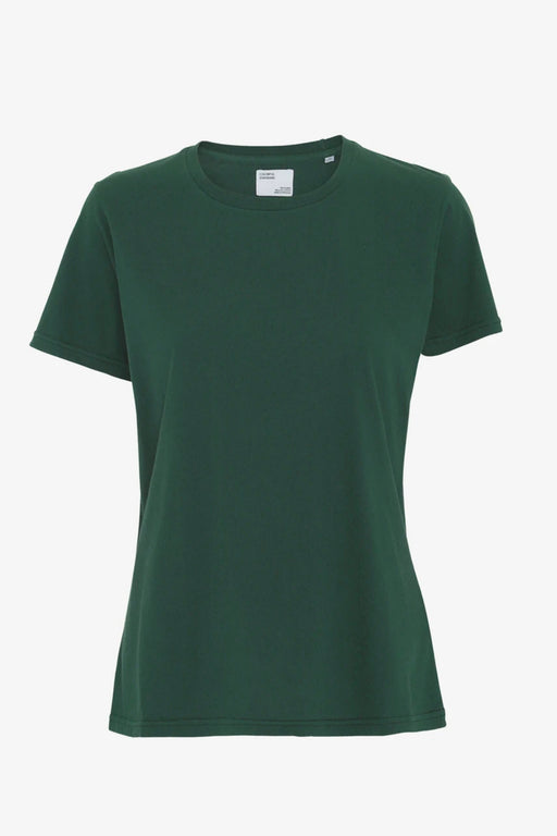 WOMAN LIGHT ORGANIC Tee emerald green