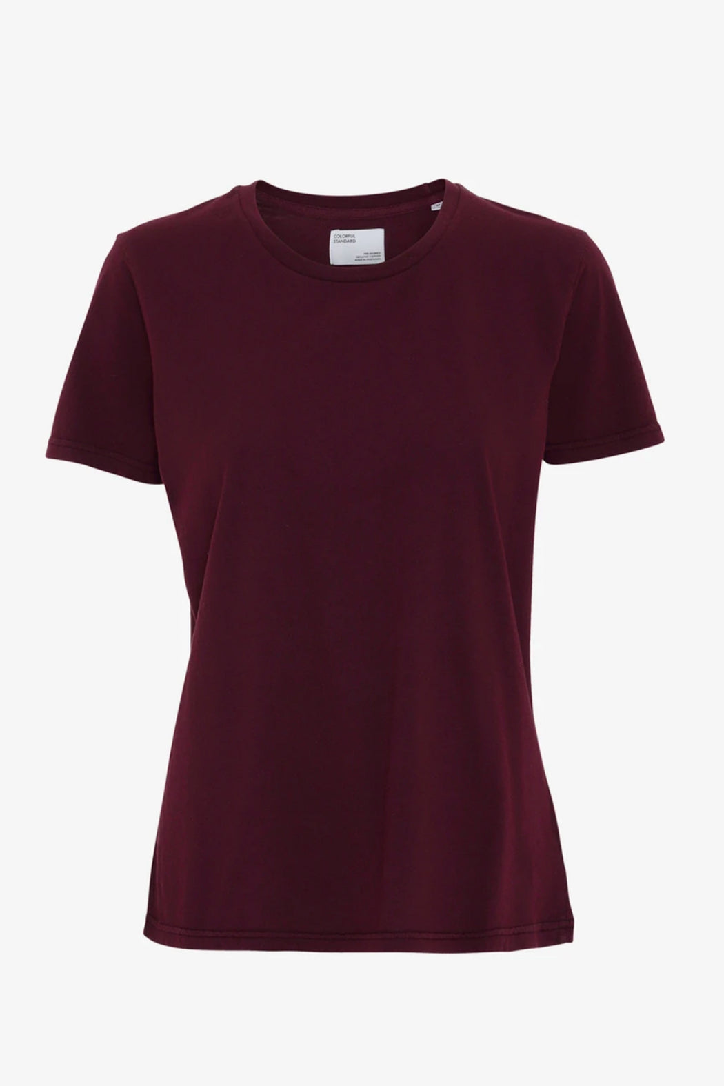 WOMAN LIGHT ORGANIC Tee oxblood red