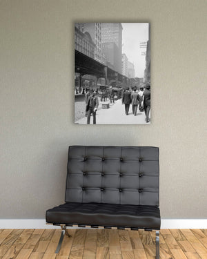 Chicago Wabash Avenue 1925 Premium Gallery Wrap Canvas Print