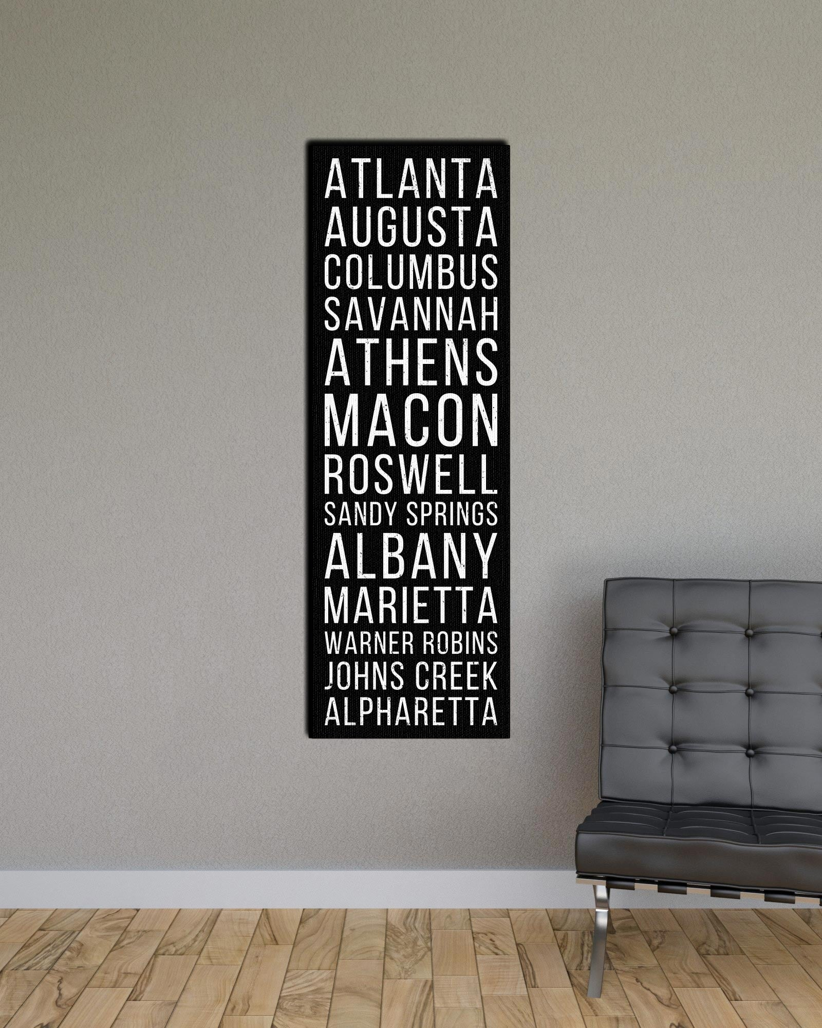 Georgia Atlanta Augusta Columbus Bus Scroll Subway Print
