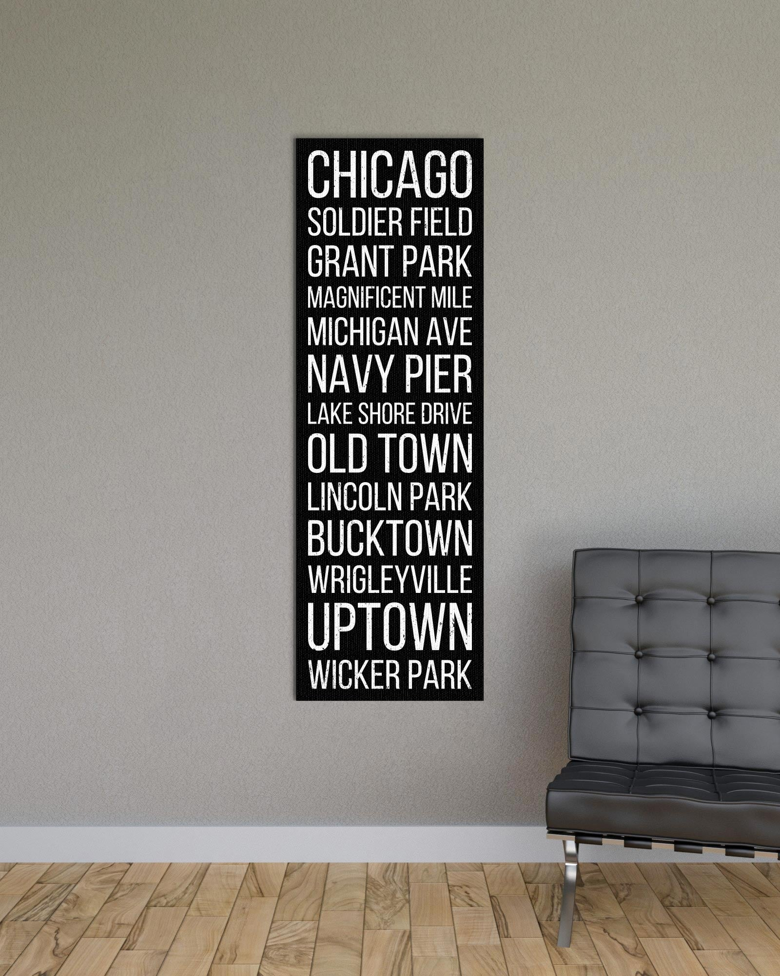 Chicago Soldier Field Grant Park Bus Scroll Subway Canvas Print