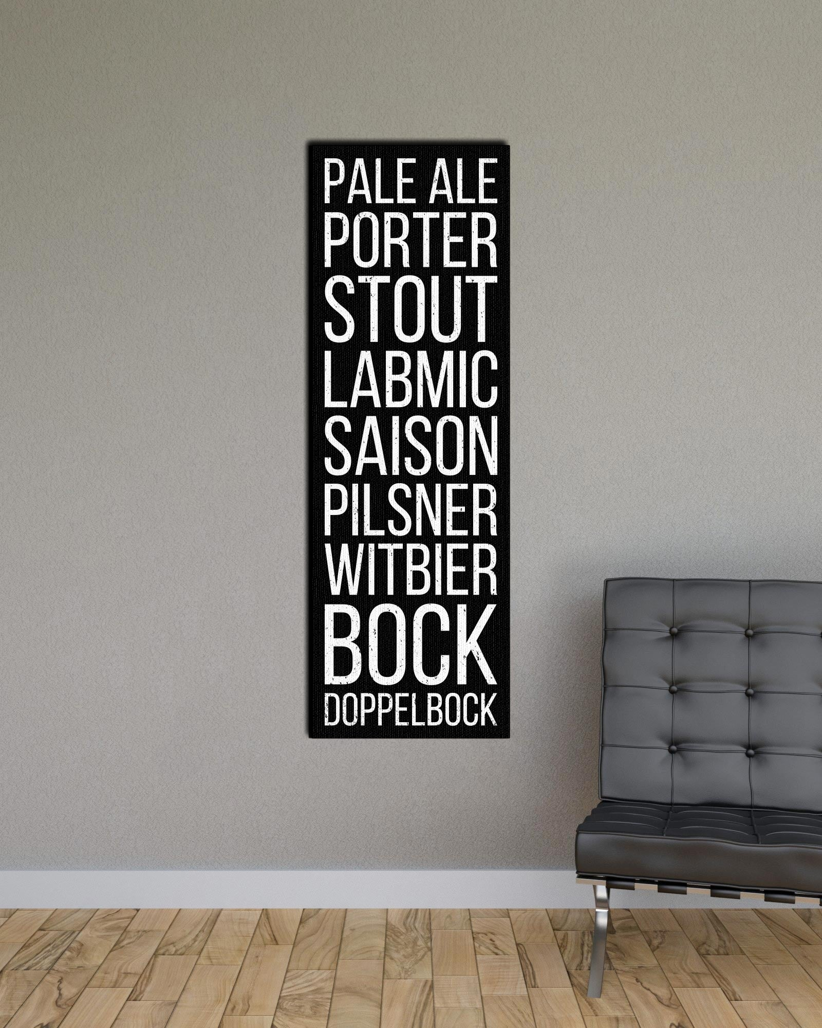 Beer Types Pale ale porter stout Bus Scroll Subway Print