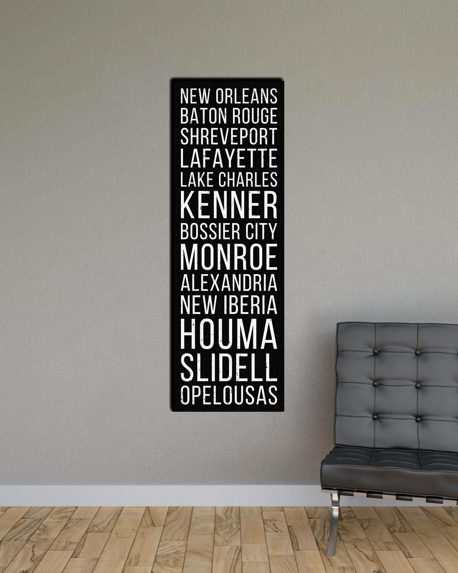 Louisiana New Orleans Baton Rouge Shreveport Bus Scroll Subway Print