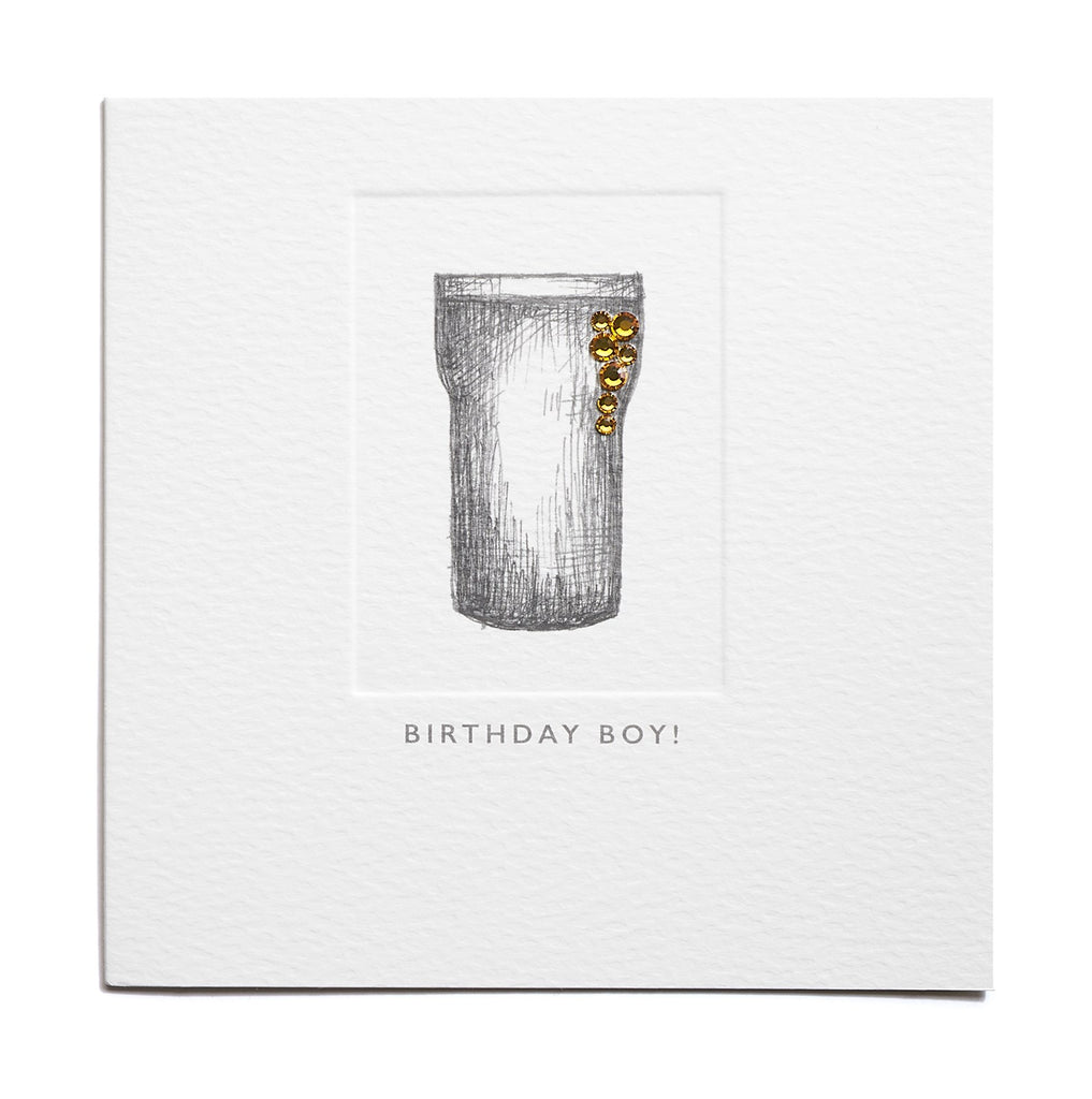 Birthday Boy! - Pint Glass birthday Card