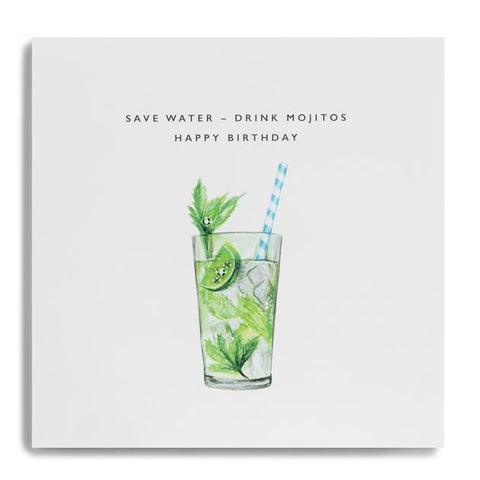 Card - Save Water Drink Mojitos