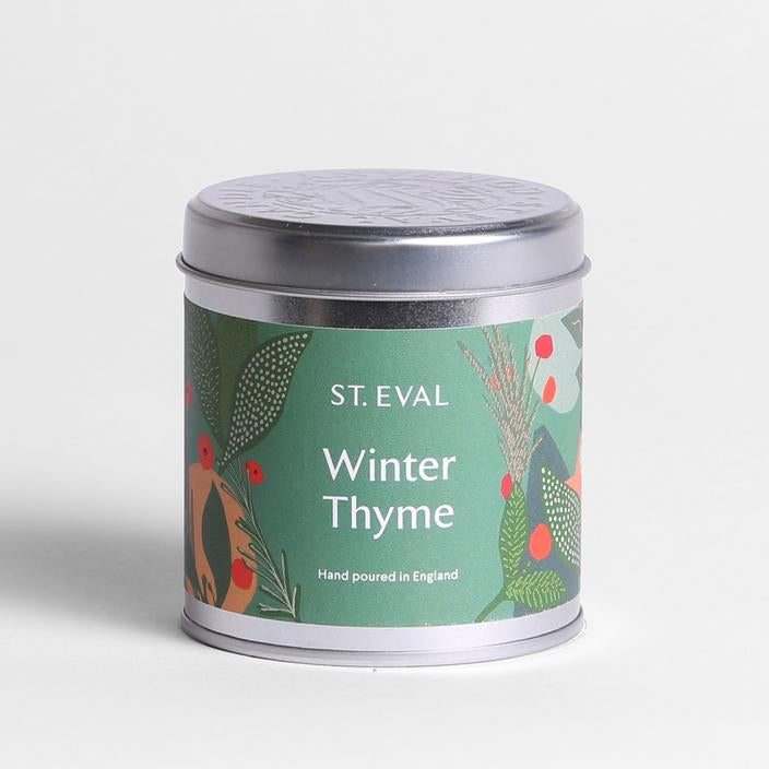 Christmas Winter Thyme Scented Tin Candle