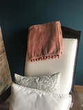 Cashmere touch fleece throw blush pink