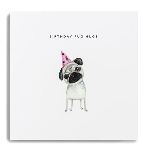 Card - Birthday Pug Hugs
