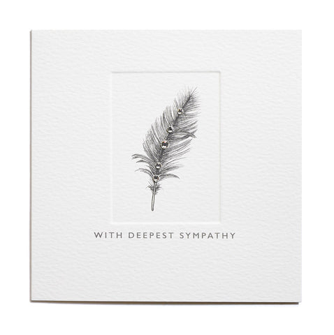 With Deepest Sympathy - Feather