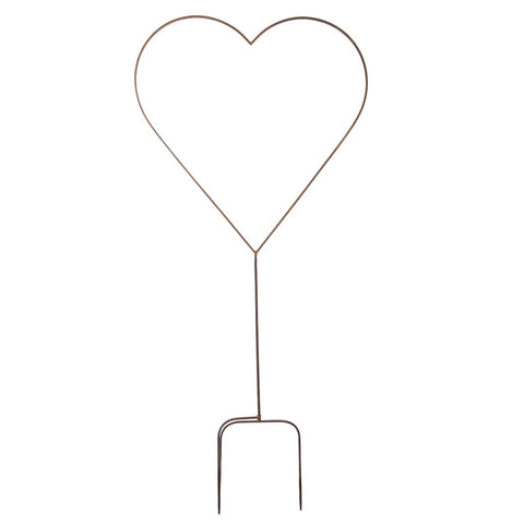 Metal Heart Garden Stake - Small