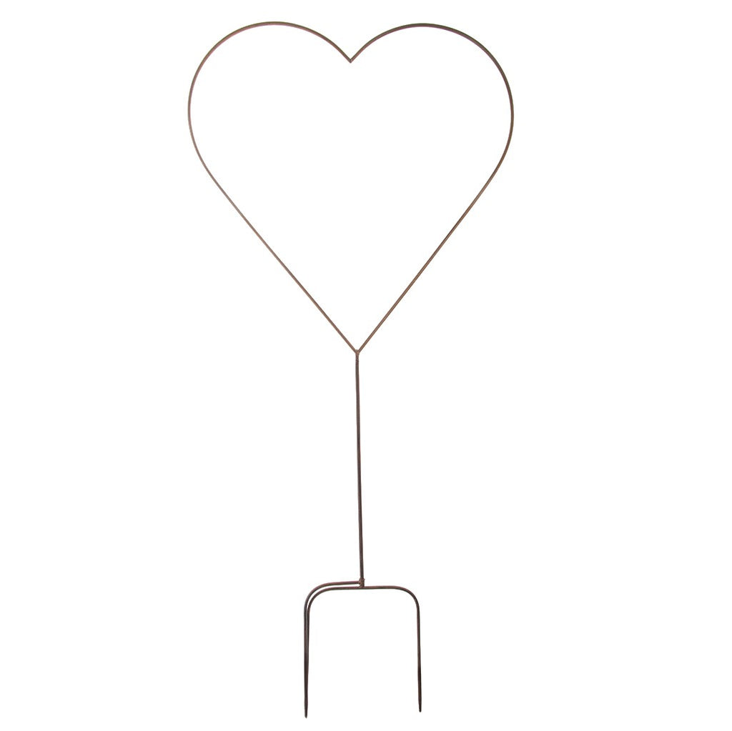 Metal Heart Garden Stake - Large