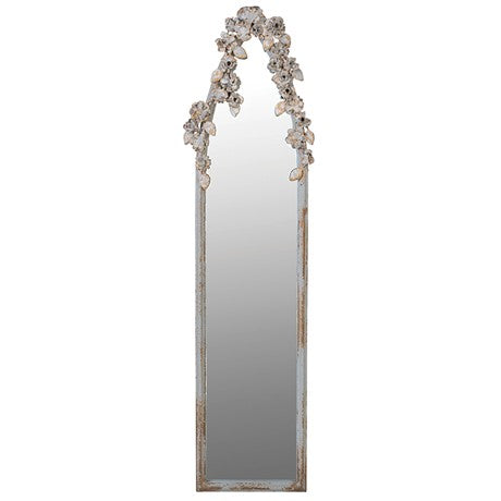 Ornate Leaf Decorated Wall Mirror