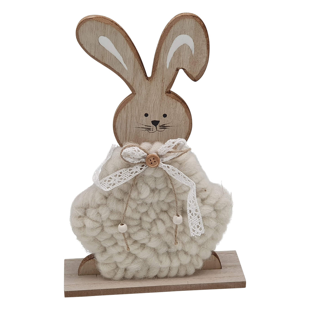 Wooden Fluffy Rabbit