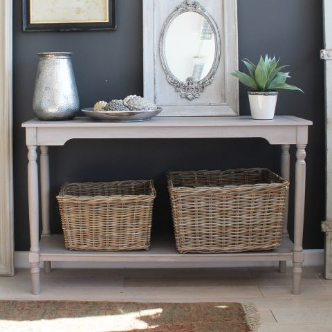 SIMPLE CONSOLE TABLE - SOFT GREY