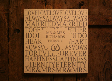 Wedding Plaque Large (Heart)