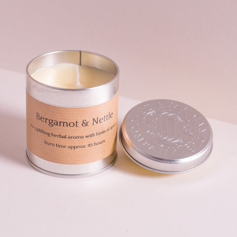 Bergamot & Nettle Scented Tin Candle