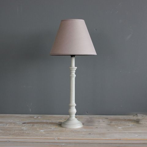 Lamp - GREY GROOVE BASE & GREY SHADE SET