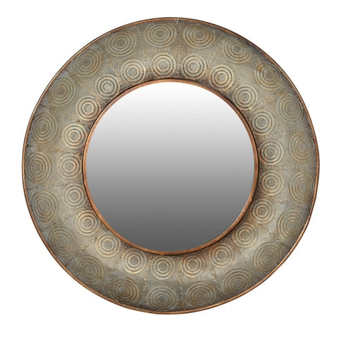 Mesh Round Wall Mirror - Large
