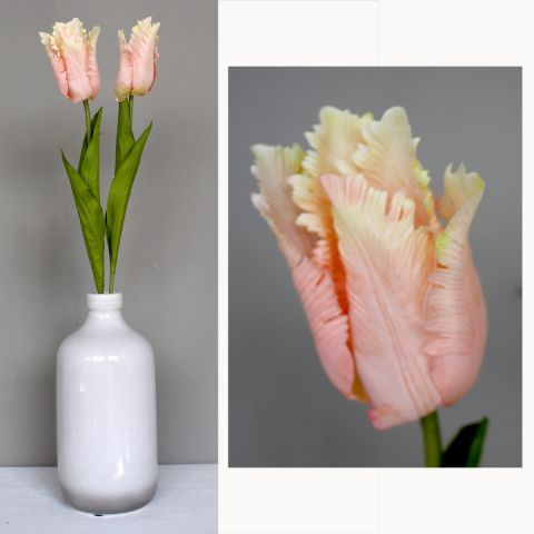 Single Pink/Peach Tulip - Artificial Flower