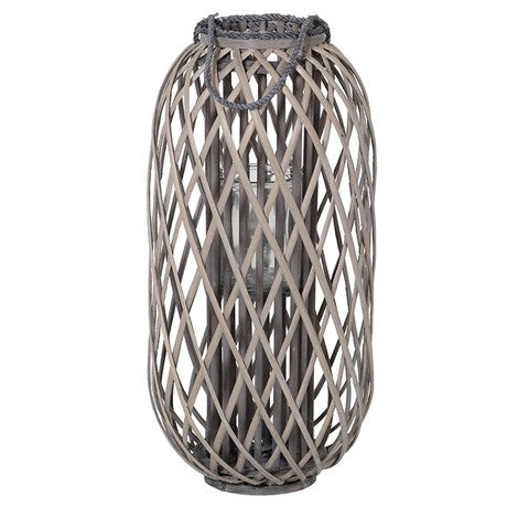 Medium Grey Willow Lantern