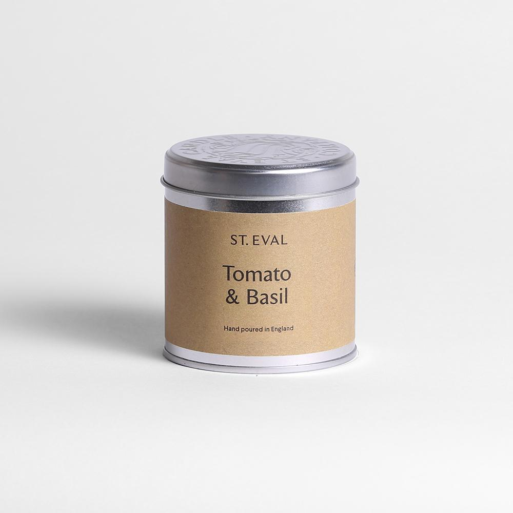 Tomato & Basil  Scented Tin Candle