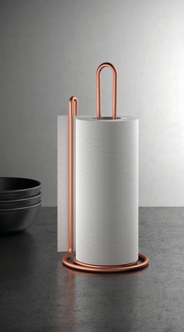 My Roll Copper Vertical Kitchen Paper Towel Holder