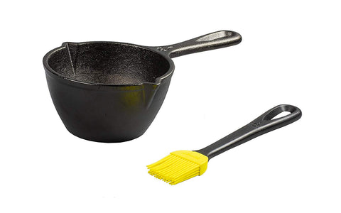 Cast Iron Melting Pot and Silicone Brush