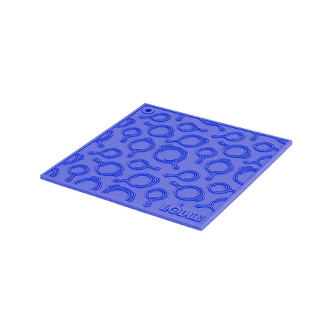 7 Inch Square Silicone Trivet With Skillet Pattern
