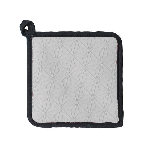 Silicone and Fabric Pot Holders/Trivet (Gray)