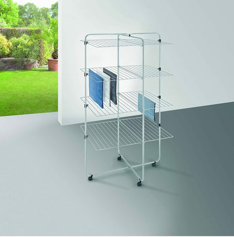 Metaltex 4-Tier Asymmetric Laundry Dryer