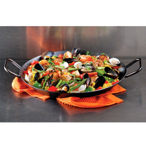 Seasoned Carbon Steel Skillet (with Loop Handles) 15 Inch / 38 cm