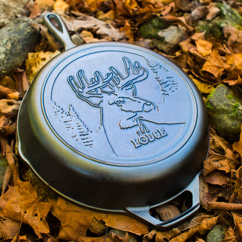Lodge Wildlife Series- 10.25 Inch Cast Iron Skillet with Deer Scene