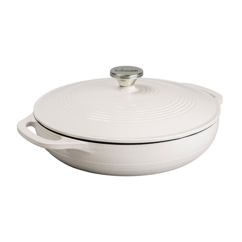 Enamel Covered Casserole 3.6 qt Oyster